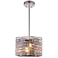 CWI Lighting 5700P10-3-613 Squill 3 Light 10 inch Bright Nickel Mini Pendant Ceiling Light