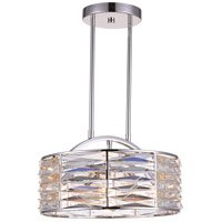 CWI Lighting 5700P15-4-613 Squill 4 Light 15 inch Bright Nickel Chandelier Ceiling Light