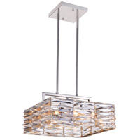 Squill 8 Light 16 inch Bright Nickel Chandelier Ceiling Light