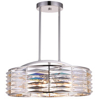 CWI Lighting 5700P20-8-613 Squill 8 Light 20 inch Bright Nickel Chandelier Ceiling Light