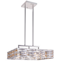Squill 8 Light 21 inch Bright Nickel Chandelier Ceiling Light