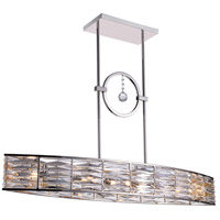 Squill 6 Light 42 inch Bright Nickel Chandelier Ceiling Light