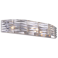 CWI Lighting 5700W25-3-613 Squill 3 Light 25 inch Bright Nickel Wall Sconce Wall Light