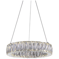 CWI Lighting 5704P16-1-601-A Juno LED 16 inch Chrome Chandelier Ceiling Light