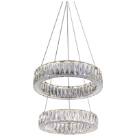 CWI Lighting 5704P20-2-601 Juno LED 20 inch Chrome Chandelier Ceiling Light