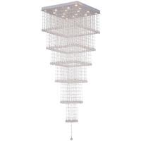 CWI Lighting 6601C32C-S Square 16 Light 32 inch Chrome Flush Mount Ceiling Light