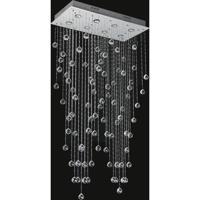 CWI Lighting 6605C26C-RC Sprinkle 8 Light 26 inch Chrome Flush Mount Ceiling Light