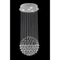 CWI Lighting 6607C14C Single Sphere 4 Light 14 inch Chrome Flush Mount Ceiling Light