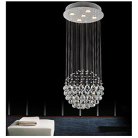 CWI Lighting 6607C16C-(H48) Single Sphere 5 Light 16 inch Chrome Flush Mount Ceiling Light