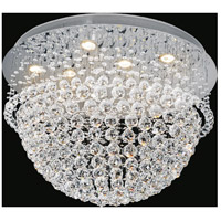 CWI Lighting 6613C26C Twinkle 11 Light 26 inch Chrome Flush Mount Ceiling Light