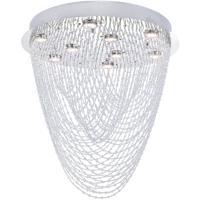 CWI Lighting 6614C22C-R Wave 9 Light 22 inch Chrome Flush Mount Ceiling Light