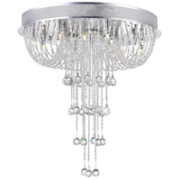 Waterfall 19 Light 24 inch Chrome Flush Mount Ceiling Light