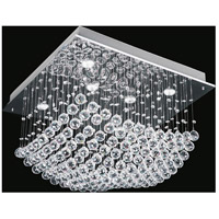 CWI Lighting 6625C26C-S Mystical 9 Light 26 inch Chrome Flush Mount Ceiling Light photo thumbnail