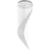 CWI Lighting 6629C24C Ribbon 8 Light 24 inch Chrome Flush Mount Ceiling Light