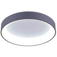 CWI Lighting 7103C18-1-167 Arenal LED 18 inch White Drum Shade Flush Mount Ceiling Light