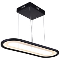 CWI Lighting 7111P27-101 Capel LED 27 inch Black Island/Pool Table Ceiling Light