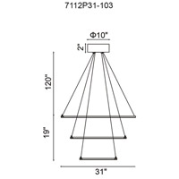 Chalice LED 31 inch White Chandelier Ceiling Light