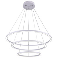 CWI Lighting 7112P31-103 Chalice LED 31 inch White Chandelier Ceiling Light