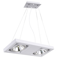 CWI Lighting 7114P18-2-103 Wrest LED 18 inch White Chandelier Ceiling Light