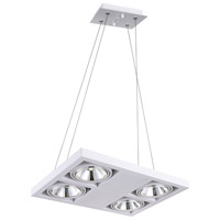 CWI Lighting 7114P18-4-103 Wrest LED 18 inch White Chandelier Ceiling Light