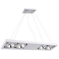 CWI Lighting 7114P32-4-103 Wrest LED 32 inch White Chandelier Ceiling Light