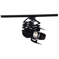 CWI Lighting 7118C13-1-101 Palco LED 10 inch Black Flush Mount Ceiling Light Monopoint Included Track Sold Separately
