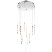 Aegeus LED 20 inch Chrome Multi Point Pendant Ceiling Light