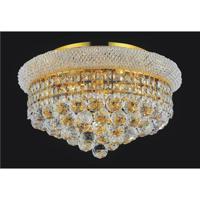 CWI Lighting 8001C18G Empire 5 Light 16 inch Gold Flush Mount Ceiling Light