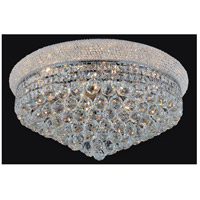 CWI Lighting 8001C28C Empire 19 Light 28 inch Chrome Flush Mount Ceiling Light