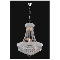 CWI Lighting 8001P20C Empire 14 Light 20 inch Chrome Down Chandelier Ceiling Light