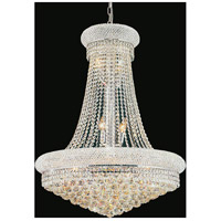 CWI Lighting 8001P24C Empire 17 Light 24 inch Chrome Chandelier Ceiling Light