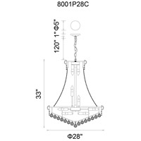 Empire 19 Light 28 inch Chrome Chandelier Ceiling Light