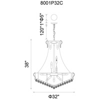 Empire 19 Light 32 inch Chrome Chandelier Ceiling Light