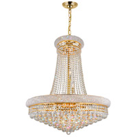 CWI Lighting 8001P32G Empire 19 Light 32 inch Gold Chandelier Ceiling Light