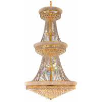 CWI Lighting 8001P36G Empire 34 Light 36 inch Gold Pendant Ceiling Light