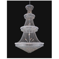 CWI Lighting 8001P54C Empire 48 Light 54 inch Chrome Chandelier Ceiling Light
