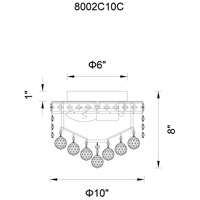 CWI Lighting 8002C10G Luminous 2 Light 10 inch Gold Flush Mount Ceiling Light