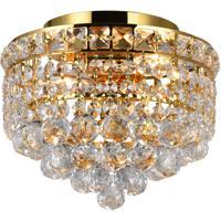 CWI Lighting 8002C10G Luminous 2 Light 10 inch Gold Flush Mount Ceiling Light
