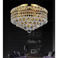CWI Lighting 8002C12G Luminous 3 Light 12 inch Gold Flush Mount Ceiling Light