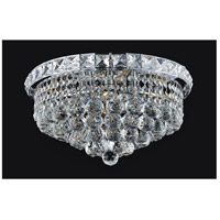 CWI Lighting 8002C14C Luminous 4 Light 14 inch Chrome Flush Mount Ceiling Light
