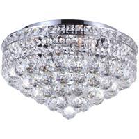 CWI Lighting 8002C16C Luminous 5 Light 16 inch Chrome Flush Mount Ceiling Light