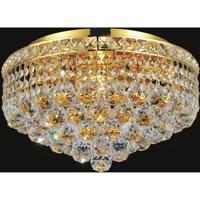 CWI Lighting 8002C16G Luminous 5 Light 16 inch Gold Flush Mount Ceiling Light