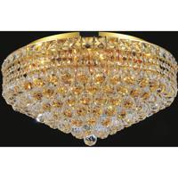 CWI Lighting 8002C24G Luminous 12 Light 24 inch Gold Flush Mount Ceiling Light