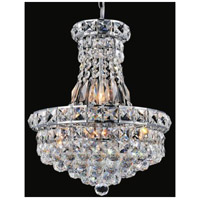 CWI Lighting 8002P16C Luminous 6 Light 16 inch Chrome Chandelier Ceiling Light