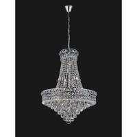 CWI Lighting 8002P22C Luminous 14 Light 22 inch Chrome Chandelier Ceiling Light