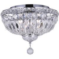 CWI Lighting 8003C14C Stefania 4 Light 14 inch Chrome Flush Mount Ceiling Light