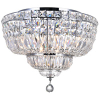 CWI Lighting 8003C20C Stefania 8 Light 20 inch Chrome Flush Mount Ceiling Light