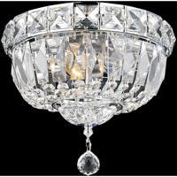 CWI Lighting 8003C12C Stefania 3 Light 12 inch Chrome Flush Mount Ceiling Light