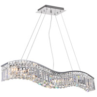 CWI Lighting 8004P36C-A-(CLEAR) Glamorous 7 Light 36 inch Chrome Chandelier Ceiling Light
