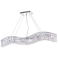 CWI Lighting 8004P44C-A-(-CLEAR-) Glamorous 7 Light 44 inch Chrome Chandelier Ceiling Light